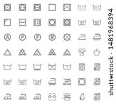 laundry instruction line icons... | Shutterstock .eps vector #1481968394