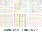 set of modern colorful...   Shutterstock .eps vector #1482042914