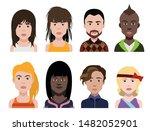 people avatars  vector women ...   Shutterstock .eps vector #1482052901
