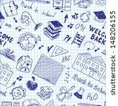 seamless pattern of school... | Shutterstock .eps vector #148206155