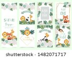green gold animal collection of ... | Shutterstock .eps vector #1482071717