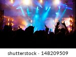 crowd at concert | Shutterstock . vector #148209509
