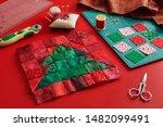 Christmas Tree Patchwork Block...