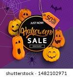 sale banner for happy halloween ...   Shutterstock .eps vector #1482102971