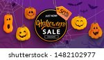 halloween banner for sale with...   Shutterstock .eps vector #1482102977