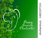 green eco happy ganesh... | Shutterstock .eps vector #1482107114