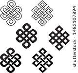 eternal knots or endless knots...   Shutterstock .eps vector #1482107894