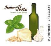pesto  popular italian herb... | Shutterstock .eps vector #148211669