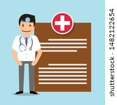 doctor  vector illustration.... | Shutterstock .eps vector #1482122654