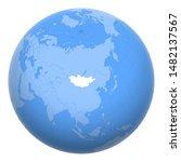 mongolia on the globe. earth...   Shutterstock .eps vector #1482137567