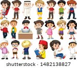 set of isolated children doing... | Shutterstock .eps vector #1482138827