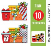 christmas gifts. find the... | Shutterstock .eps vector #1482140441