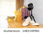 taking photo to shoes with... | Shutterstock . vector #1482140981