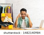 asian man being frustrated... | Shutterstock . vector #1482140984