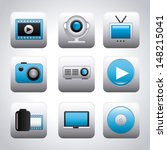video icons over gray... | Shutterstock .eps vector #148215041
