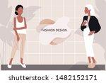 vector young women dressed in... | Shutterstock .eps vector #1482152171