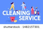 cleaning service web banner... | Shutterstock .eps vector #1482157301