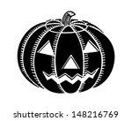 jack o' lantern   retro clip... | Shutterstock .eps vector #148216769