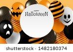 happy halloween . design with... | Shutterstock .eps vector #1482180374