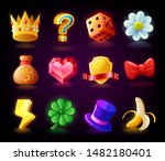 colorful slots icon set n2 for... | Shutterstock .eps vector #1482180401