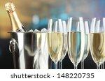 Champagne In Glasses In...