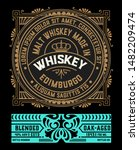 old whiskey label with vintage... | Shutterstock .eps vector #1482209474