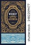 whiskey label for packing.... | Shutterstock .eps vector #1482209477