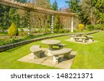 a bench over beautiful outdoor... | Shutterstock . vector #148221371