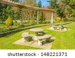 a bench over beautiful outdoor... | Shutterstock . vector #148221371