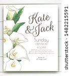 vector delicate invitation with ...   Shutterstock .eps vector #1482215591
