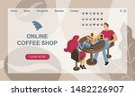 concept of online coffee shop....