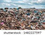 huge heap of plastic garbage | Shutterstock . vector #1482227597