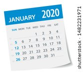 january 2020 calendar leaf  ... | Shutterstock .eps vector #1482231971