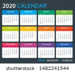 vector template of color 2020... | Shutterstock .eps vector #1482241544