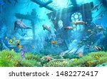 Underwater Scenery With Fish 3d ...
