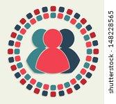 creative vector mosaic icon | Shutterstock .eps vector #148228565