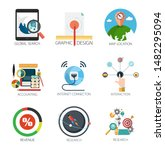 graphic design vector icons...   Shutterstock .eps vector #1482295094