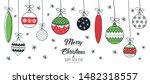 set of hand drawn christmas... | Shutterstock .eps vector #1482318557