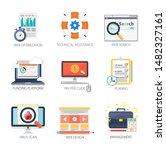 internet design vector icons...   Shutterstock .eps vector #1482327161