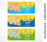 summer sale paper cut poster...   Shutterstock .eps vector #1482346604