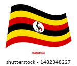 uganda flag waving vector... | Shutterstock .eps vector #1482348227