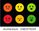 multi colored round cute faces...   Shutterstock .eps vector #1482374234