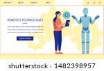 landing page offering modern...   Shutterstock .eps vector #1482398957