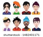 people avatars  vector women ... | Shutterstock .eps vector #1482401171