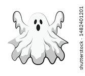 illustration of cartoon scary... | Shutterstock .eps vector #1482401201