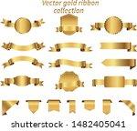 golden ribbon collection vector ... | Shutterstock .eps vector #1482405041