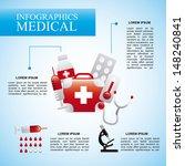 infographics medical  over blue ... | Shutterstock .eps vector #148240841