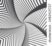 op art background.  twisted in... | Shutterstock .eps vector #1482415727