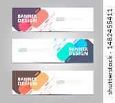 abstract banner design template ... | Shutterstock .eps vector #1482455411