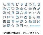 media and communication icon... | Shutterstock .eps vector #1482455477